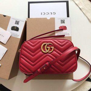 leea NWT Gucci Marmont Matelasse crossbody bags